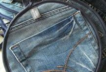 sewing with jeans