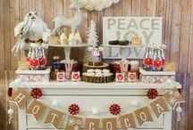 Hot Cocoa Bar Lovlieness! / Hot Chocolate Bar Ideas For Parties, weddings and baby showers