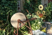 Garden & Yard / Making your outdoor space your favorite place. Back yard art decor rustic statue plants succulents garden flowers vintage birds   / by Sherry sammons