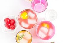 HAPPY HOUR / Discover a mix of non-alcoholic and alcoholic drinks recipes that you can DIY. Ideal for weddings and parties.