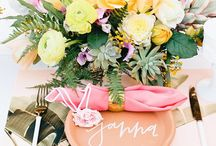 PLACE ME / Personalise your guests place settings with these unique and modern ideas. They're super simple to DIY too!