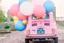 TRAVEL IN STYLE / Get inspired with these awesome wedding day vehicle ideas, from unique car decorations, to buses, vans and bicycles.