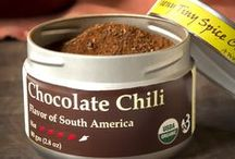 TTS Co. - Chocolate Chili / We rate Chocolate Chili at 4 out of 5 on the heat scale and a 6 out of 5 on flavor.  This blend is one of those rare instances where you get true great flavors along with a deep chili heat.  We love this mix on meats, in chiles and sauces.  A pinch is great in hot chocolate!  Chocolate Chili is a wonderful blend of Latin American flavors with maple sugar giving it a Vermont twist.
