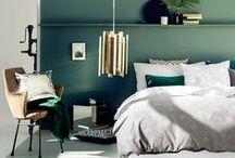 Chambre - Bedroom / Un peu d'inspiration pour aménager et décorer sa chambre ! #Chambre #Bedroom #Design #Style #Tendance #Déco #Bed #Lit #Home #Maison #Idée #Inspiration #Interior #Rangements #Penderie #DIY