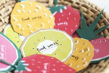 TUTTI FRUTTI / We basically love everything and anything designed to look like fruit, from home decor to table decor and geometric shapes to DIY tutorials!