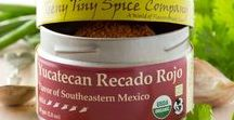 Yucatecan Recado Rojo / Recado Rojo provides a rich earthy flavor to the cooking of the Yucatan Peninsula.  Traditionally, this spice blend is combined with citrus juice or vinegar to make a wet rub or marinade.  We find that this blend is also delicious added straight to meats, veggies and eggs.