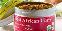 West African Curry / Our West African Curry blend is rich with mild heat.  It includes many ingredients that you would expect in a curry with the additon of a few spices more typical of African cuisine such as Cubeb and Grains of Paradise.  The blend is based on curries used in Senegal for preparing traditional fish dishes.