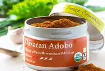 Oaxacan Adobo / Oaxacan Adobo is a traditional chili based Mexican seasoning, fantastic as a dry spice rub or as a general spice blend.  It truly shines when combined with a bit of citrus juice or vinegar to make a marinade.  The flavor is a round and deep earthiness with moderate chili heat and fruitiness that will bring diners back for more.