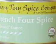 French Four Spice / French Four Spice (Quatre Épices) is a very ancient blend of spices traditionally used to season charcuterie and terrines.  It has been adapted to use in cuisines throughout areas of French influence such as North Africa, the Eastern Mediterranean and Southeast Asia.  In addition to its use in savory dishes, French Four Spice can be an exotic addition to sweet dishes.  Originally containing pepper, clove, nutmeg, and ginger, many versions add excitement by including even more spices.
