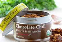 Chocolate Chili / We rate Chocolate Chili at 4 out of 5 on the heat scale and a 6 out of 5 on flavor.  This blend is one of those rare instances where you get true great flavors along with a deep chili heat.  We love this mix on meats, in chiles and sauces.  A pinch is great in hot chocolate!  Chocolate Chili is a wonderful blend of Latin American flavors with maple sugar giving it a Vermont twist.