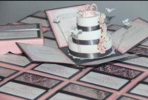 Elegant Wedding, Sweet 16th, Quinceañera Invitations, Pop-Up Invitations / Compilation of JinkysCrafts Handmade Invitations