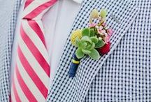 Brocade Buttonholes / Crafted buttonholes for the gentlemen by Brocade Designs / by Hillary Yeager