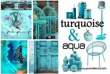 Turquoise & Aqua  / by Purodeco Feng Shui Interior Design