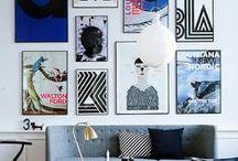 Wall decor - picture wall | bildevegg - veggdekor / by Purodeco Feng Shui Interior Design