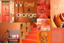 Coral & Orange  / by Purodeco Feng Shui Interior Design