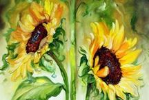 Sunflowers / you are my sunshine, my only sunshine, you make me happy when skies are gray...