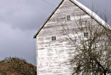 """Porches and Barns / Some day, I want a big, wide country porch with lots of room for a swing, comfy wicker chairs and that homey feel that just says, """"stay awhile"""". A big ole barn where I can have a workshop is another dream..."""