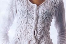 knitted tops & cardi's(ladies) / by Jane Crabb