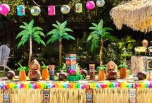 Luau Party Ideas / Aloha! Put the WOW in luau with these luau party ideas from Party City. Get inspiration for luau food, cocktails and drinks, decorating ideas, party games, a beachy party photo booth and more! / by Party City