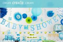 Baby Shower Ideas / Oh baby! Get inspiration to celebrate a mom-to-be and help her get ready for a bundle of joy. Baby Shower Ideas from Party City including baby shower games, baby shower favors, baby shower decorating ideas, baby shower candy buffets and dessert tables, and baby shower themes