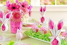 Easter Party Ideas / Somebunny has some great ideas for Easter cupcakes, cookies, tablescapes and, of course, egg-cellent Easter baskets! Hop to it for easy & amazing ways to put together creative Easter centerpieces, treats and table decorations with eggs, Easter candy, favors and more!