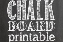 Chalkboard Art / Everything looks better when it's written on a chalkboard!