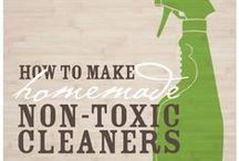 DIY Natural Cleaners / Toxic-free. Inexpensive. DIY cleaners are the way to go! If you need a bit of inspiration for how to clean anything in your home using basic items you probably already have, this is the place to be! If you're need even more inspiration, get the FREE e-book called Clean, Naturally! at http://www.nourishingjoy.com/clean-naturally/