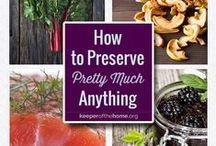 Preserving, Canning, and Celebrating Seasonal Bounty / by Kresha @ Nourishing Joy