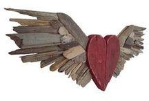 wood & driftwood / odun, tahta vb malzemelerden objeler