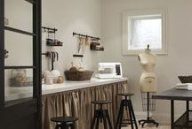 Sew roomy / Dreaming of a bigger sewing room...going from a 9'x8' space to a 21'x21' / by Ida Mae Walton Couch