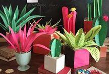 Paper garden / kağıt çiçekler..bahçe..vs