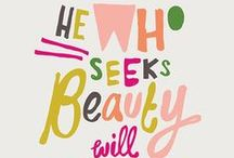 graphic design inspiration / pretty and inspiring design