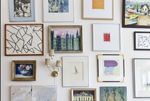 framed art + gallery wall / great examples and ideas of framed artwork and gallery walls