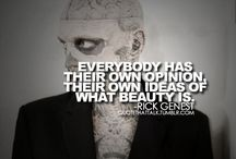 Rick Genest / This board is my obsession with Rick Genest. Found him on google couple weeks ago and just somehow fell for him. Something about him, past his tattoos is a fun, great person and i like it. Plus he's mild compared to all the crazy people out there looking like SNAKES, LEOPARDS and whatever else..lol  / by Chelsie Oldham