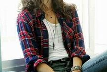 A plaid shirt style / チェックシャツコーデ