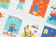 Screenprint postcards