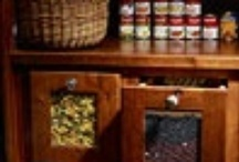 KITCHEN PANTRY / Pantry is a room or closet in which food, groceries,  silverware and dishes, etc. are kept.  / by Tina Walker