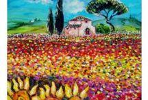 CONTEMPORAY FINE ART /ARTWORKS by BULGAN LUMINI & AiLARTWORKS / Oil Paintings ,Mixed media and Watercolor paintings