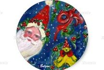 CHRISTMAS PRODUCTS / Zazzle Products with my original artistic illustrations for Christmas.