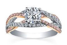 Add a touch of colour to your engagement ring / Engagement and wedding rings with a touch of colour