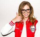 Celebrities in glasses