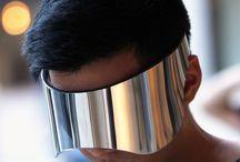 Mask eyewear / Large mask like sunglasses