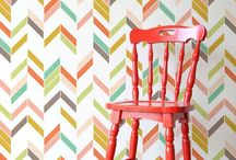 Wall stencils and wallpaper