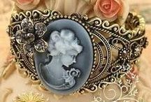 Cameo Oh Cameo Where Art Thou? / Cameos are beautiful and diverse.  These Cameos have caught my eye in some great way, color, age, style or theme.  There are too many to choose from, so these are special to me in some way.  I've also included a sampling of other beautiful vintage jewelry.