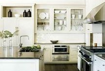 Kitchens | Cook Here / Kitchen design, storage ideas, clever compartments and the like ~ a wonderful spot for all those ideas to linger until I put them to work! / by Christi Barbour | Interior Designer