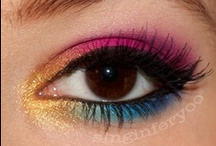 Bright Makeup Looks / Bright, bold, vibrant colors are all the rage for eyes this season.
