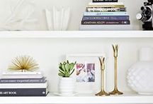 Bookcase Styling / by Amy I