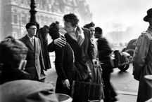 """ROBERT DOISNEAU.  / """"Toute ma vie je me suis amusé, je me suis fabriqué mon petit théâtre.""""  """"what i was trying to show was one where i would feel good, where people would be friendly, where i could find the tenderness I longed for. My photos were like a proof that this world can exist. """" Robert Doisneau."""