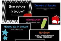CLASSE - Rentrée scolaire / by Valérie Cadieux