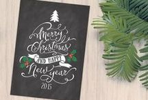 Christmas Card Design Ideas / Inspiration and Ideas for possible Christmas Cards